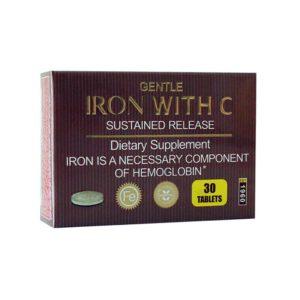 قرص آهن + ویتامین ث برونسون ( 30 عددی )