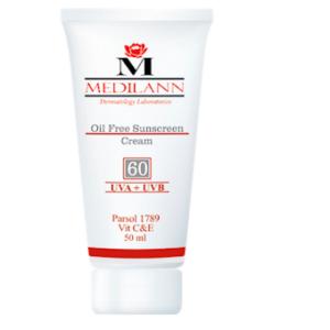 کرم ضد افتاب مخصوص پوست چرب ومعمولی SPF 60 مدیلن
