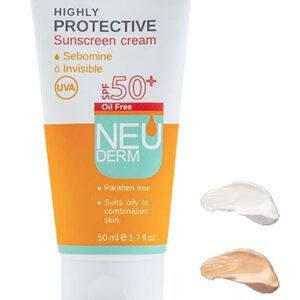 کرم ضد آفتاب SPF50 نئودرم ( بیرنگ )